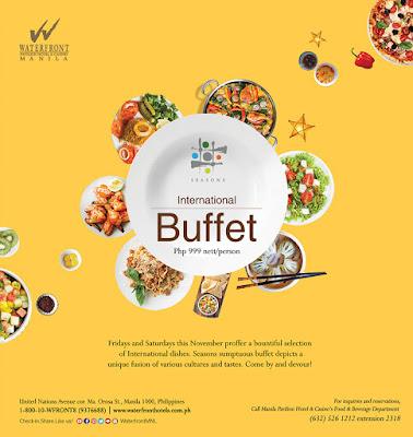 International Buffet at Seasons Manila Pavilion Hotel and Casino