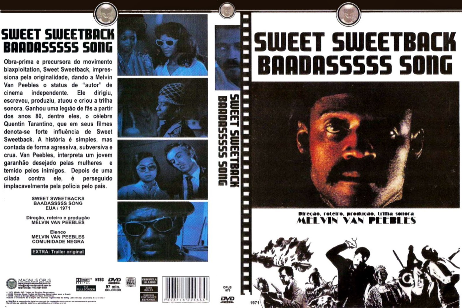 Capa DVD Sweet Sweetback Baadasssss Song