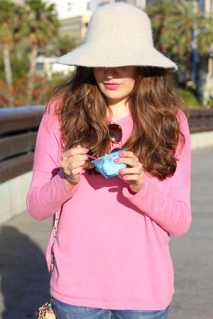 jersey_rosa_pink_sweater_zara_helado_icecream_hat_sombrero_angora_angorina_angicupcakes1