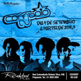 Cartaz do show da Comboio 23 no Revolution Pub, dia 9/9