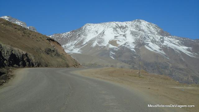 Estrada para o Valle Nevado - Chile