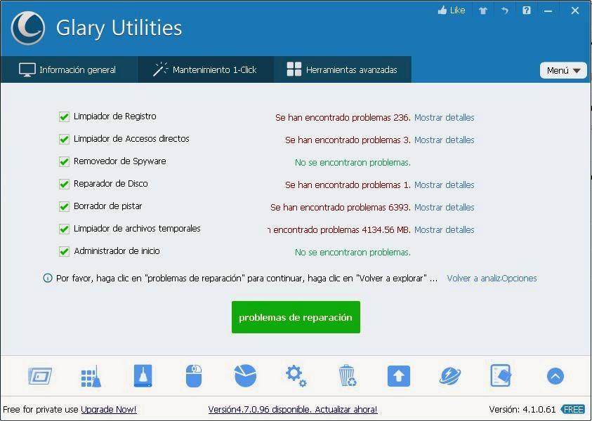 Glary Utilities reparar problemas