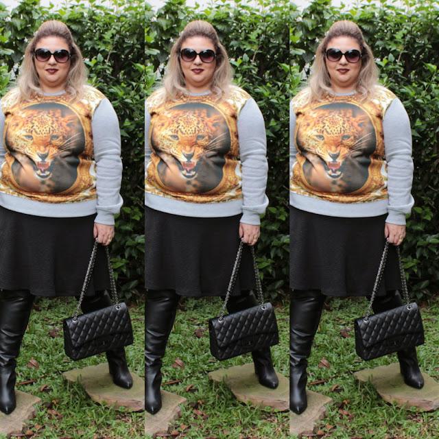 plus size, look, look do dia, moletom, besni, barato, bota, gordinha, over the knee, moda, beleza, fashion mimi, tamanho grande