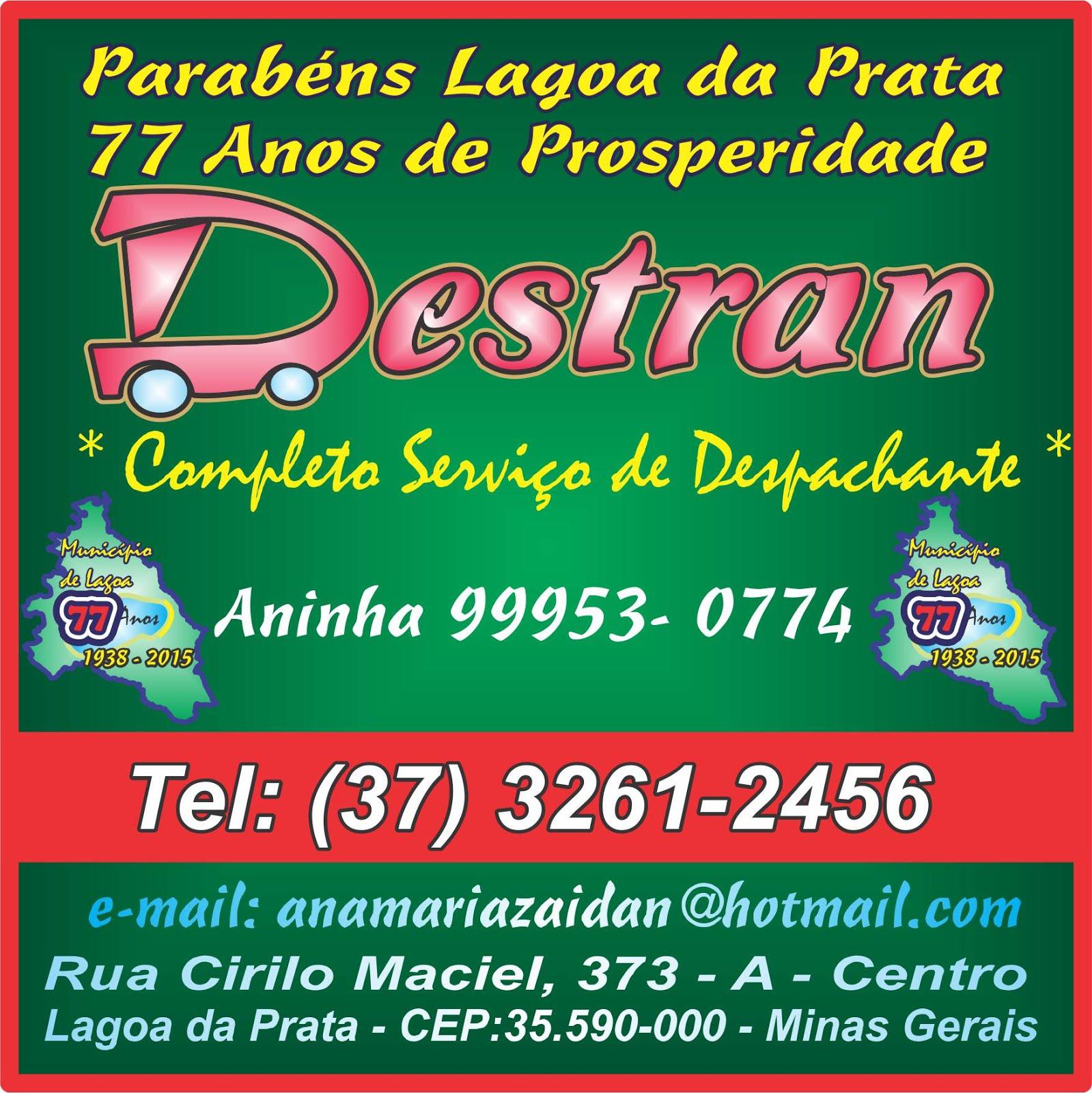 Destran Despachante em Lagoa da Prata Licenciamento 2013