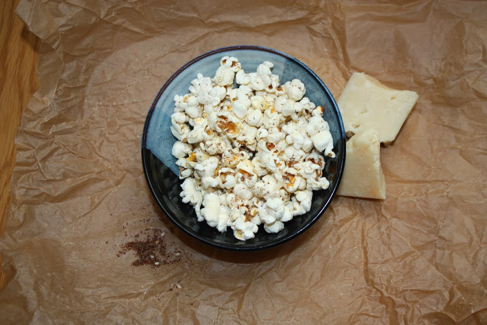 Parmesan and Za'atar Popcorn