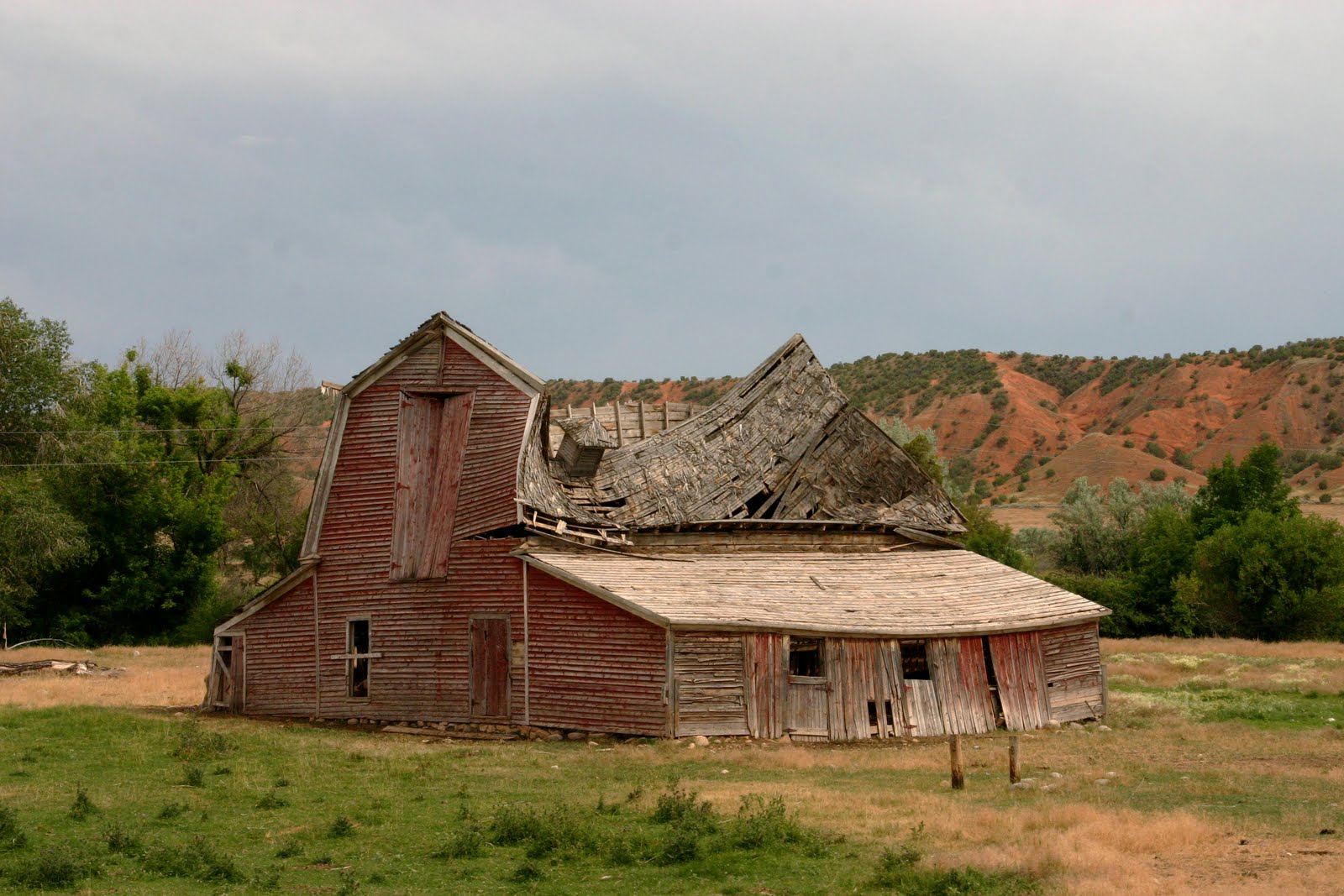 Old Red Barns
