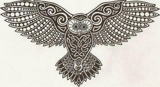 Flying owl stencil - photo#13
