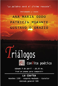 9 de abril: Triálogos. Convite poético