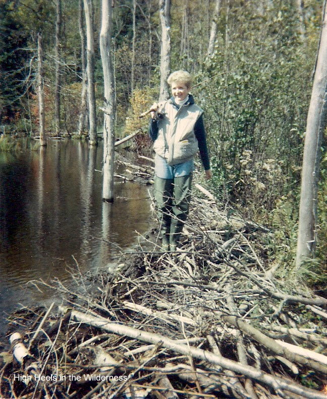 Beaver Dam fishing 1980's. Streamside chic.