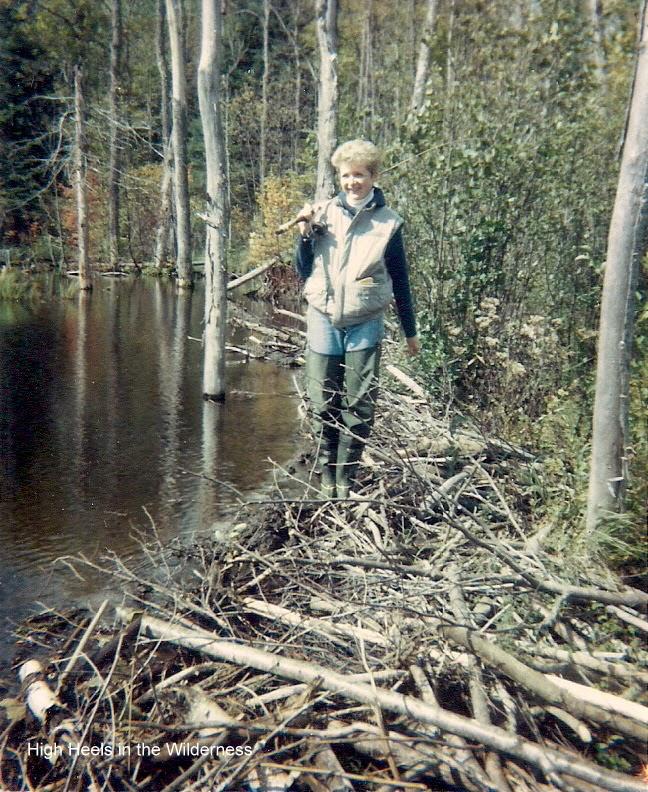 Beaver Dam fishing 1980's. Streamside chic.