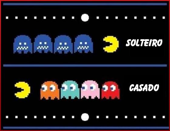 Solteiro X Casado - Pac Man