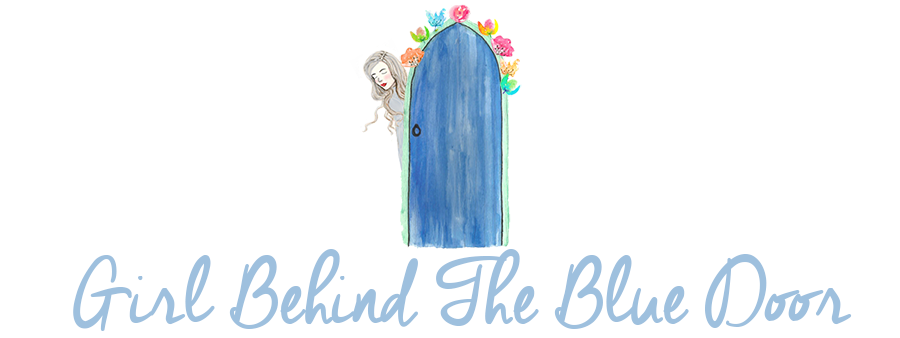 Girl Behind The Blue Door