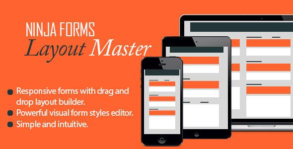 Free Download Ninja Forms V1.7.2 - Layout Master Wordpress Plugin/Add-On