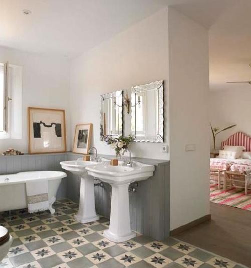 baño simetrico
