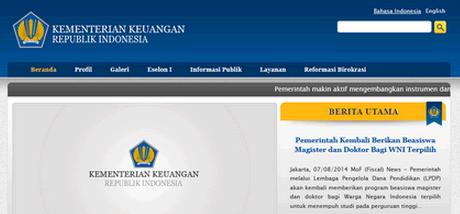 Website Daftar Registrasi Online CPNS Kemenkeu