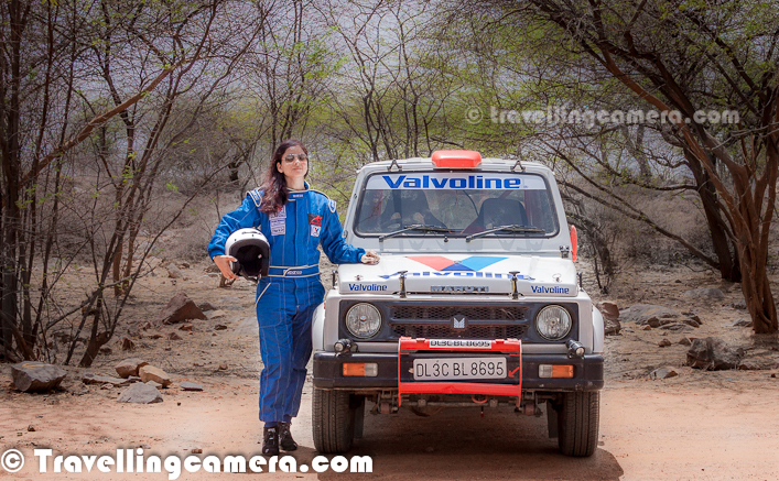 Few days back we had shared a Photo Journey about the Motorsport Portfolio Shoot near Gurgaon City of India. This Photo Journey shares few more photographs form this  shoot with Sarika & Her Flying-Machine, as you can see above.Here is a photograph of Sarika driving her flying-machine with 'Valvoline' sticker on front... She is soon going to fly this Maruti Gypsy in Mughal Rally soon...This shoot happened on Gurgaon-Faridabad Highway and it is one of the best location for Motorsport Enthusiasts.Motorsport in India is at full boom and there is almost one big event every month in North India. Companies like Mahindra, Tata & Maruti have been organizing different kinds of Motorsport Rallies in different parts of India. These events follow different patterns & Rules...All shots were done in natural light... So what are your thoughts on Mid-day light in summers now?It's amazing to the passion of these riders and their love for these flying machines, which never fail on any kind of terrain... These machines fly in Deserts, snow or any kind of roads... and of-course only skilled drivers can better handle these brainless machines...Maruti Gypsy flying away all the dust coming on each turn and edge of these roads...'The Federation of Motorsports Clubs of India' (FMSCI) is main organization which regulates all Motorsports activities in India. Most of the Motorsports events in India are conducted under guidance of FMSCI...Globally all motorsport is governed by the FIA (Federation Internationale de l'Automobile). The FIA appoints an ASN for each of its member countries. The ASN is the only recognized holder of the Sporting Power for all branches of motor sport in its country. There is only one ASN per country. For India, this is the Motorsports Association of India. The MAI is the direct motor sport representative of India within the FIA.One of the casual shots of Sarika with her gypsy...Here is a photograph of Sarika and her navigator for the day...