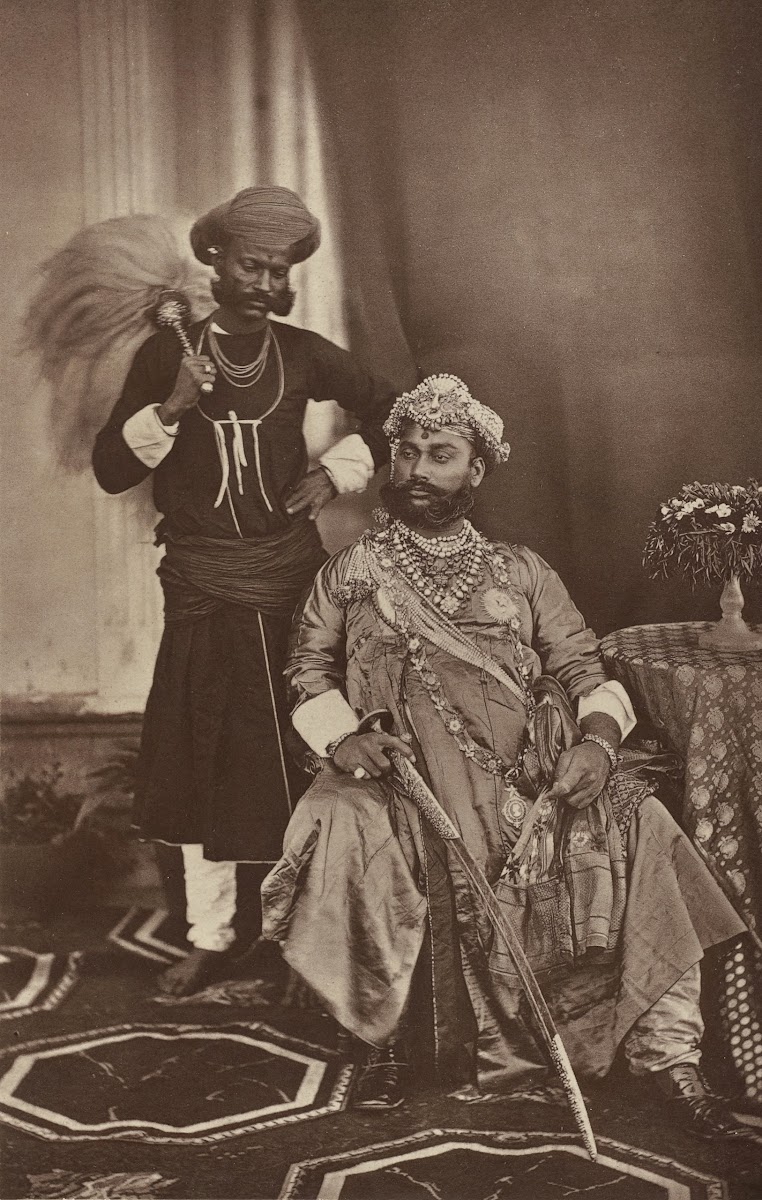The Maharaja of Indore Tukojirao Holkar II at the Delhi Darbar of 1877