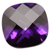 Cushion Amethyst Cubic Zirconia