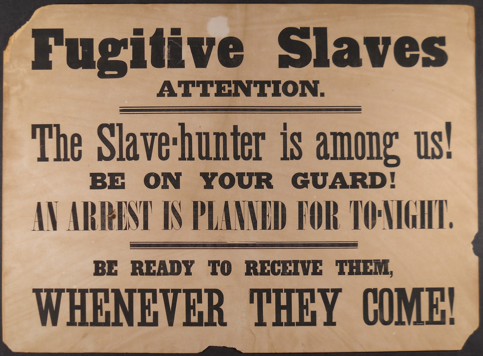 essay on the fugitive slave law The main compromise that was disliked in the compromise of 1850 was the fugitive slave law the fugitive slave law stated that any marshal that did not.