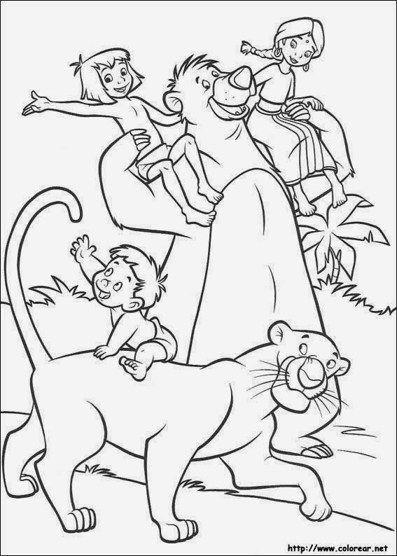 Cuentos infantiles: El libro de la selva. Cuento para colorear ...