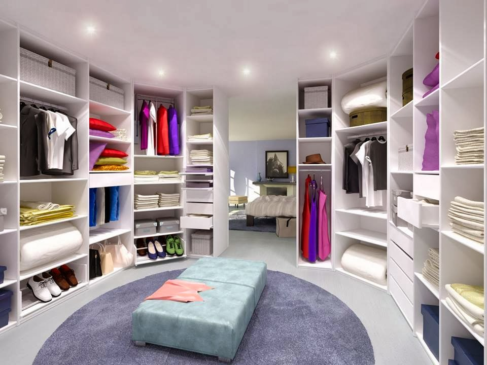Construindo minha casa clean casa montada contempor nea for Best walk in closets in the world
