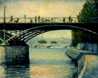 Pont des arts paris france oil painting