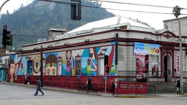 street art in santiago de chile barrio bellavista arte callejero by piguan and bus