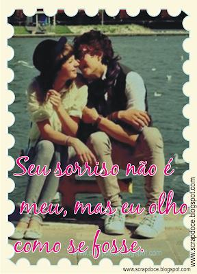 Foto Mensagem de Amor/Sorriso para Compartilhar no Facebook