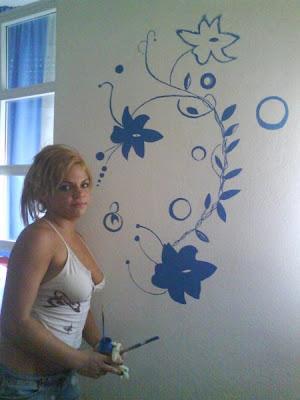 Decoraci n de las paredes en distintas partes de la casa cocinas modernas - Dibujos en paredes interiores ...