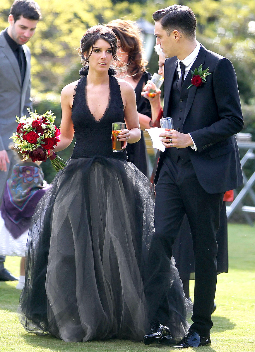 love my weddings shenae grimes wears a black wedding dress