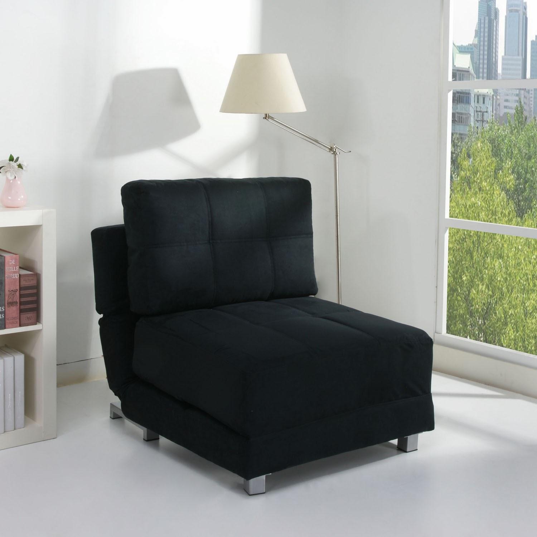 fauteuil noir de lit