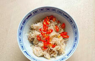 Fried Snakehead with chopped Lemongrass and Red Chili Recipe 3