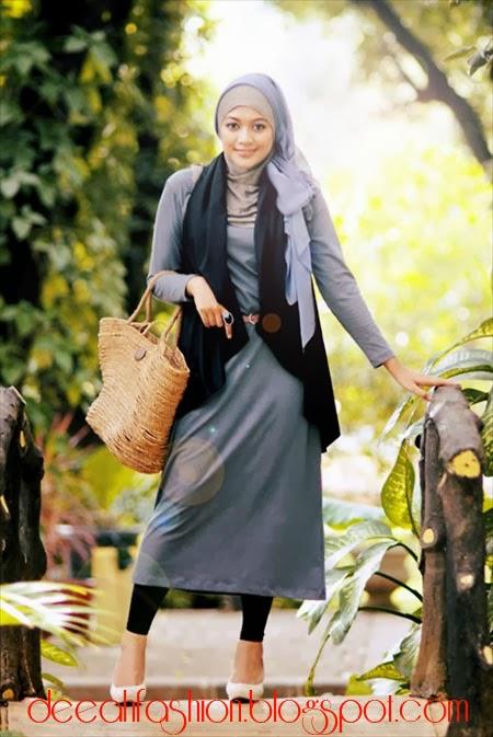 Modis Dengan Memakai Jilbab Total Look