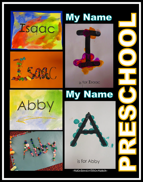 photo of: Name Recognition in Preschool, Name Projects for Literacy