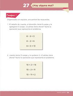 Apoyo Primaria Desafíos matemáticos 1er grado Bimestre 2 lección 27 Hay alguna mal