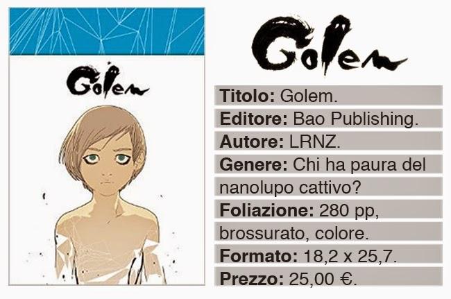 bao publishing golem volume lrnz lorenzo ceccotti cover copertina dati info
