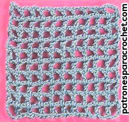 red de base para tejer wiggly crochet