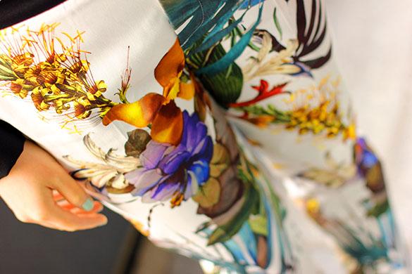 Floral Botanical Print Pants
