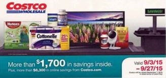 Current Costco Coupon September 2015