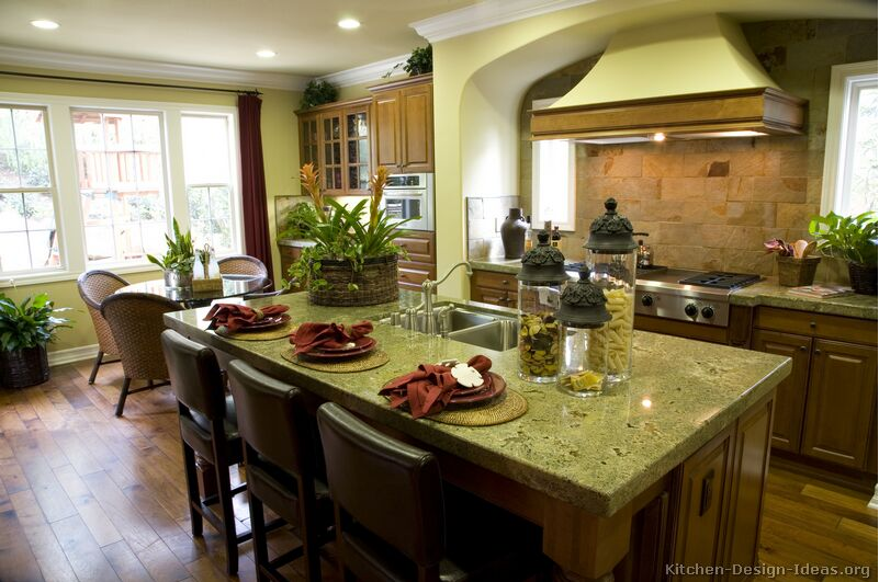 Tuscan kitchen ideas room design inspirations for How to decorate a kitchen counter