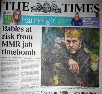The Times seems to claim babies are at risk from MMR 2013!