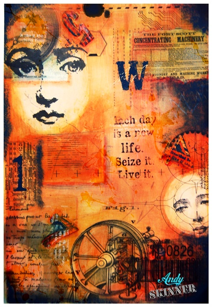 andy skinner mixed media collage