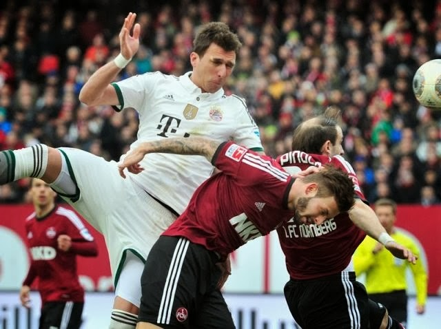 Nuernberg 0-2 Bayern Munich Bundesliga Results