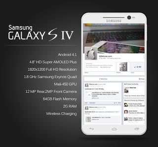 Info Spesifikasi Dan Harga Samsung Galaxy S IV