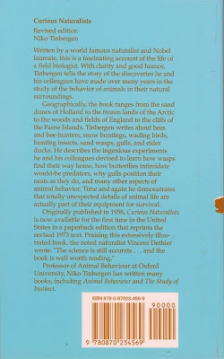 Curious Naturalists Back Cover
