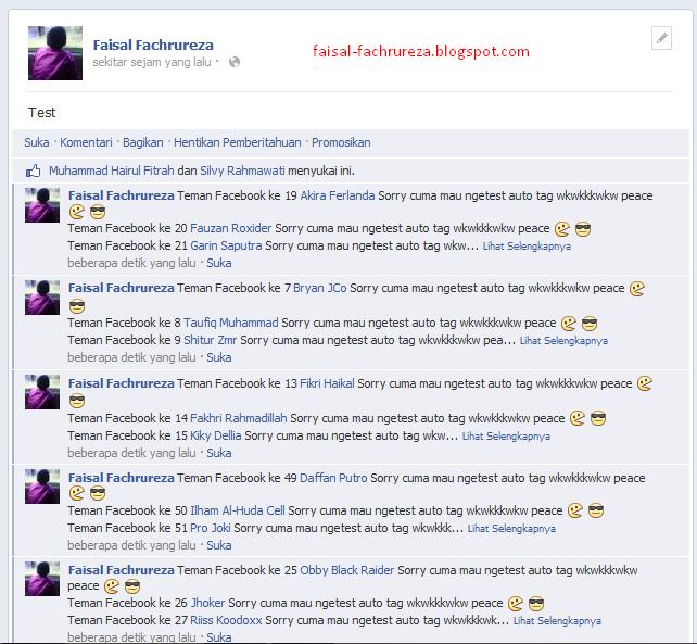 Cara Menandai Semua Teman Di Status Facebook Dengan Cepat ( Auto Tag )