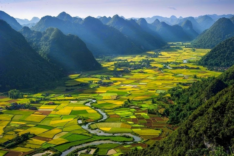 aerial photography - Bac Son Valley, Vietnam