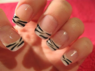 saranje noktiju - animal print nokti 005