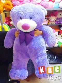 jual boneka teddy bear besar warna ungu ukuran 1 5 meter