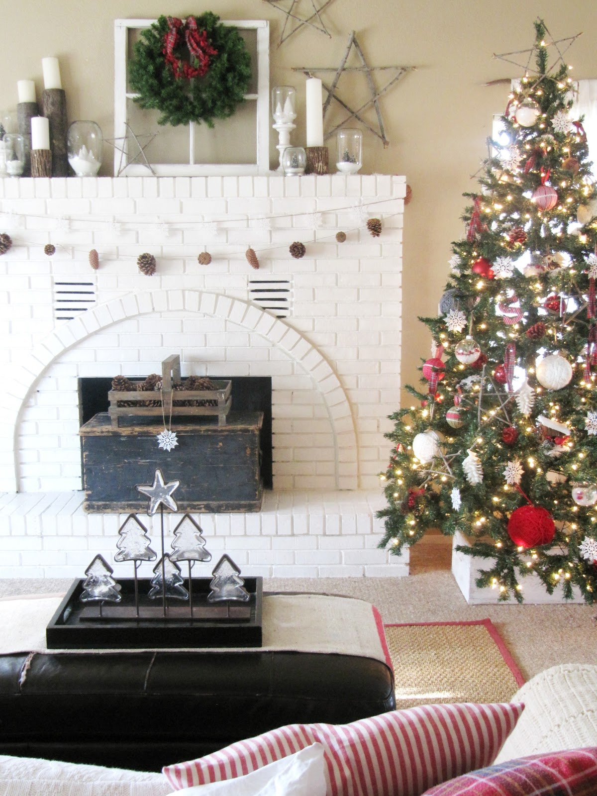 My Winter Wonderland Christmas Mantel - The Wicker House